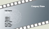 Film Negative Business Card Template